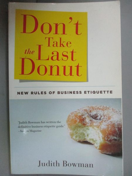 【書寶二手書T1/原文書_JML】Don't Take the Last Donut: New Rules of…