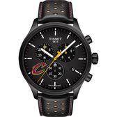 TISSOT天梭 CHRONO XL NBA 騎士隊特別版計時錶-黑/45mm T1166173605101