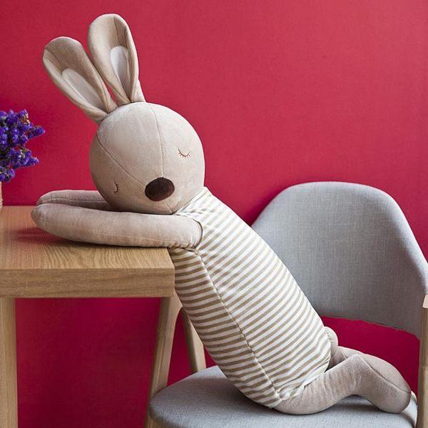 可愛枕頭兔子安撫抱枕長條枕體公仔抱著睡覺的娃娃布偶生日禮物女【全館鉅惠85折】