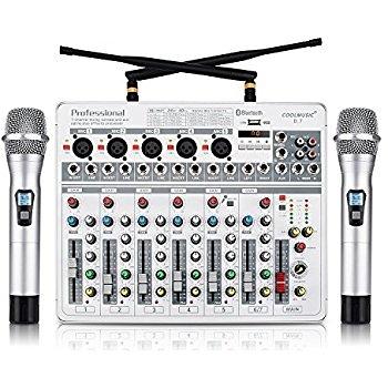 凱傑樂器 Coolmusic PROFESSIONAL D7 混音器 七軌 藍芽 MIXER
