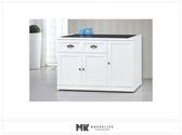 【MK億騰傢俱】ES705-03 綺雅娜白色4尺碗盤櫃下座