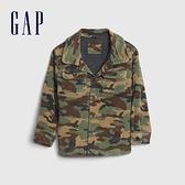 Gap男幼童 時尚迷彩燈芯絨翻領外套 600510-綠色迷彩