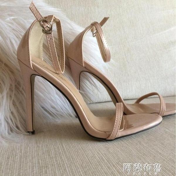 細跟高跟涼鞋 Stiletto heel shoes SW歐美經典高跟鞋簡約一字百搭涼鞋婚鞋女鞋 阿薩布魯