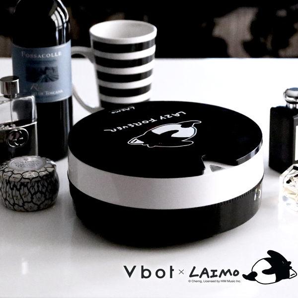 【送擦地組+宋仲基面膜2片入】Vbot × 人氣插畫馬來貘 掃地機器人 吸塵器 i6 蛋糕機 (黑松露)