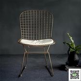 化妝凳 現代簡約臥室ins風梳妝台凳子北歐靠背美式網紅化妝椅歐式美甲椅 MKS交換禮物