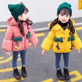 女童棉衣新款中長款洋氣冬裝