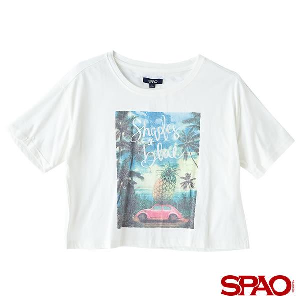 SPAO女款復古照片短版T恤-共2色