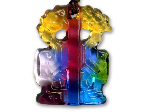 鹿港窯~居家開運水晶琉璃項鍊~雙龍 附精美包裝 ◆免運費送到家◆