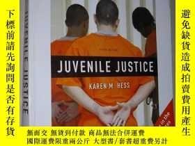二手書博民逛書店英文原版罕見Juvenile Justice by Kaeren