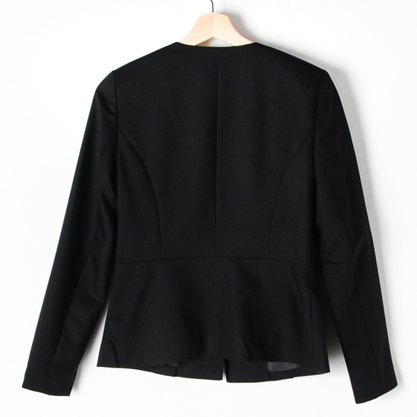 【MASTINA】短版西裝外套-黑 好康限時