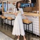 白色半身裙女中長款高腰2020夏薄新款遮夸裙子顯瘦A字蛋糕百褶裙 唯伊時尚