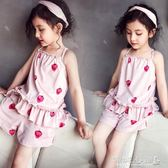 兒童睡衣 女童睡衣薄套裝兒童休閒家居服兩件套潮 傾城小鋪