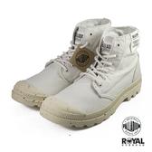 Palladium 新竹皇家 Pampa 米灰色 帆布 軟木鞋墊 高統 軍靴 男款 NO.B0552