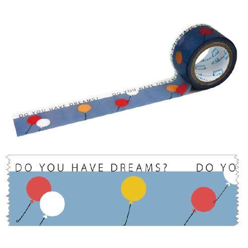 ★funbox生活用品★《Shinzi Katoh 加藤真治》紙膠帶30mm(蔚藍氣球) ZI02101