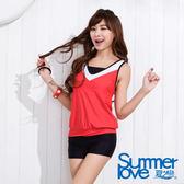 【SUMMERLOVE夏之戀】陽光運動風長版二件式泳衣-S15739