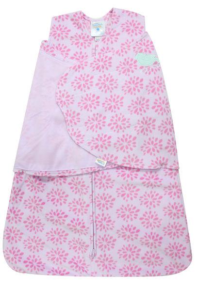 美國刷毛防踢睡袍: Pink Floral Burst: 粉紫花卉: HL-0245