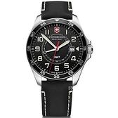 VICTORINOX 瑞士維氏 兩地時間腕錶 VISA-241895
