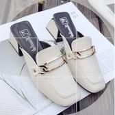 半拖鞋包頭拖鞋女夏新款外穿時尚