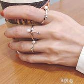 戒指女氣質珍珠關節食指開口戒指