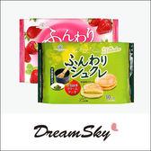 日本 柿原製果 鬆軟 宇治抹茶奶油風味  草莓奶油風味 夾心蛋糕  宇治抹茶 草莓 DreamSky
