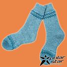 【PolarStar】羊毛保暖雪襪『藍綠...