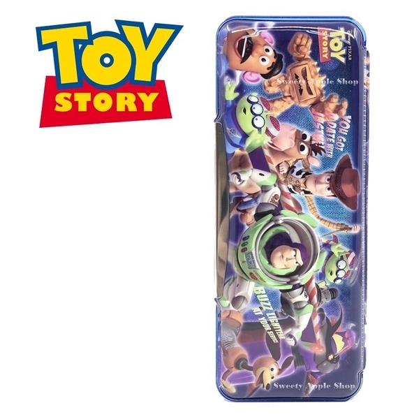 日本限定  迪士尼 TOY STORY 玩具總動員 家族版 雙面 筆盒 / 鉛筆盒
