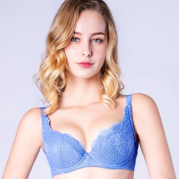 思薇爾-花靈美姬系列B-F罩蕾絲包覆內衣衣(英國藍)