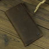 瘋馬皮皮夾(長夾)-商務精選二折簡約男錢包2色73qs29【時尚巴黎】
