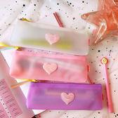 筆袋 韓版創意簡約少女流蘇筆袋清新半透明學生學習用品收納文具筆袋女  『優尚良品』