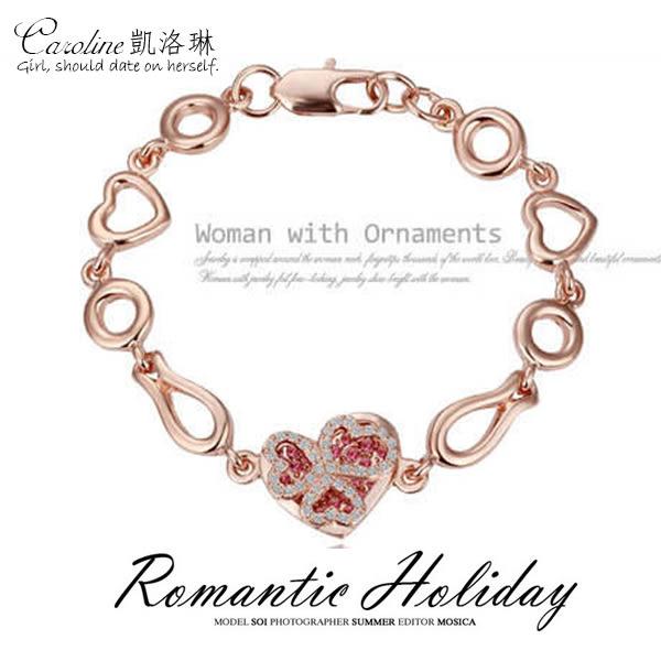 《Caroline》★【承諾】浪漫風格,優雅性感.水晶時尚手鍊68554