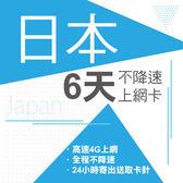 現貨供應 日本 6天 4G不降速 東京 沖繩 神戶 北海道 名古屋 關西 九州 上網 上網卡 網路 網路卡