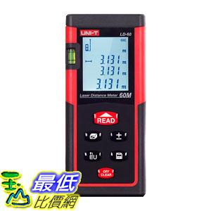 [107美國直購] 雷射測距儀 UNI-T LD60 Laser Distance Meter 60M/196ft Handheld Mini Measure Finder