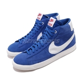 Nike 休閒鞋 Blazer Mid QS ST 藍 白 男鞋 高筒 聯名 怪奇物語 【PUMP306】 CK1906-400