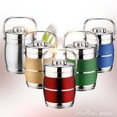 雙層不銹鋼保溫飯盒三層保溫桶3層便當盒大容量多層提鍋多種顏色   蜜拉貝爾