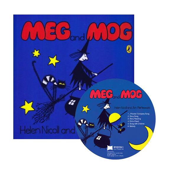 【麥克書店】MEG AND MOG /英文繪本+CD《主題:萬聖節》
