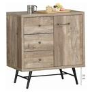 【森可家居】科瑞工業風2.7尺餐櫃 10JX473-2 廚房收納櫃 木紋質感 現代輕工業風 MIT台灣製造