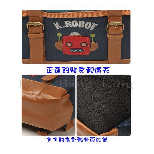 ☆棒棒糖童裝☆貼皮機器人背包 書包