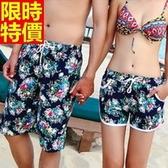 情侶款海灘褲(單件)-衝浪防水日式風格花卉設計男女短褲66z38【時尚巴黎】