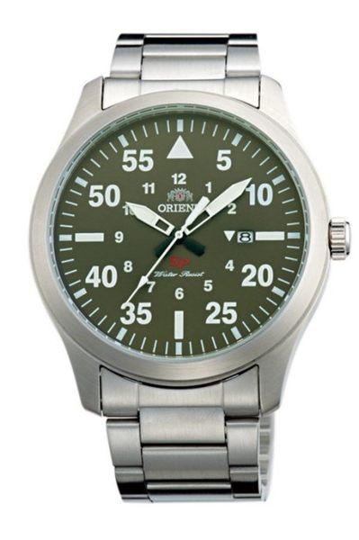 【時間光廊】ORIENT 東方錶 軍綠色 鋼帶錶款 全新原廠公司貨 FUNG2001F