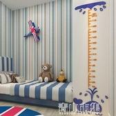 卡通鯨魚身高貼兒童房裝飾貼紙幼兒園寶寶量身高尺3d立體身高墻貼YYJ 青山市集