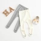 褲腳熊熊表情包腳內搭褲 長褲 包腳褲 中性款 新生兒 嬰兒 寶寶 童裝 女童 男童 橘魔法 現貨