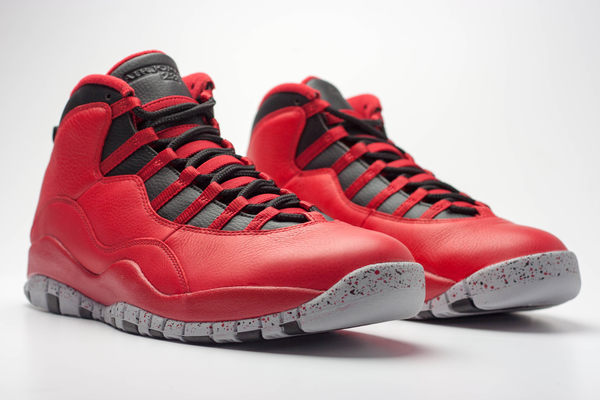 【蟹老闆】Air Jordan 10 retro 30th bulls on broadway instakicks  10代 黑紅 女鞋