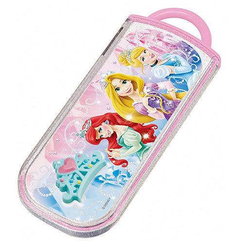 【震撼精品百貨】Disney 迪士尼~迪士尼公主抽屜式餐具組(立體皇冠)