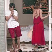 情侶裝 蜜月情侶裝沙灘海邊度假愛情氣質連身裙套裝女裙男衣 igo 傾城小鋪