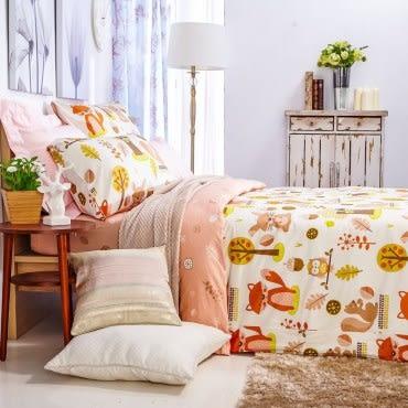 HOLA 歡樂莊園防螨抗菌床包雙人
