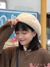 貝雷帽網紅貝雷帽女秋冬毛呢韓版日系百搭毛絨英倫復古冬季可愛蓓蕾帽子 芊墨左岸