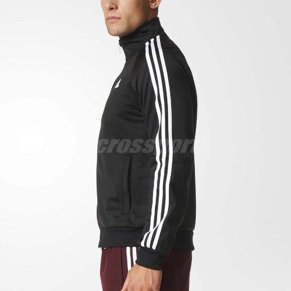 adidas 運動外套 ESSENTIALS TRACK JACKET 夾克 立領外套 黑 白 男款 長袖【PUMP306】 BR1024