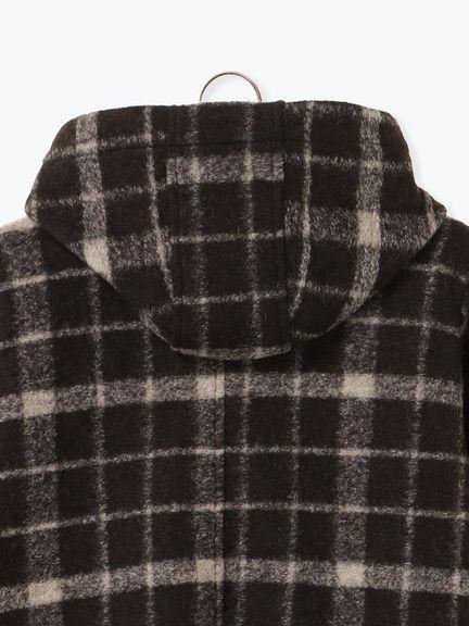 「Hot item」復古格紋/素面連帽外套 (提醒-SM2僅單一尺寸) - Sm2