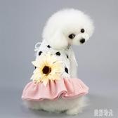 寵物裙子 夏季寵物衣服小狗背心夏裝薄款泰迪小型犬幼犬公主裙夏 zh5910【歐爸生活館】