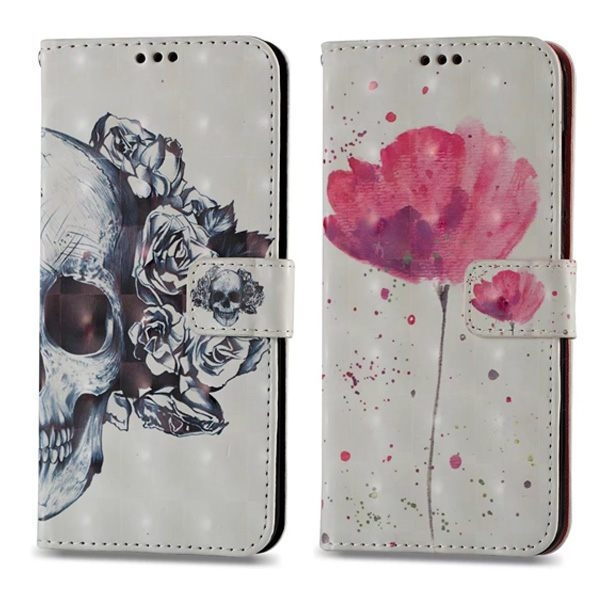 蘋果 iPhone XS MAX XR iPhoneX i8 Plus i7 Plus 3D彩繪皮套 手機皮套 插卡 支架 掛繩 保護套 皮套